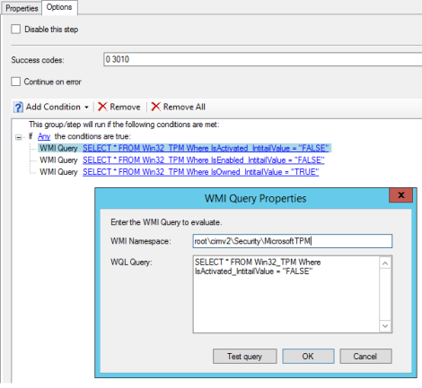 How to prepare TPM chip for BitLocker encryption in a single Task Sequencestep