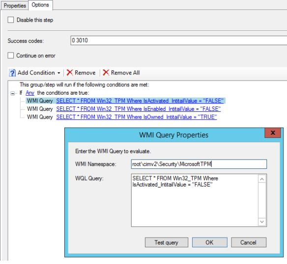 How to prepare TPM chip for BitLocker encryption in a single