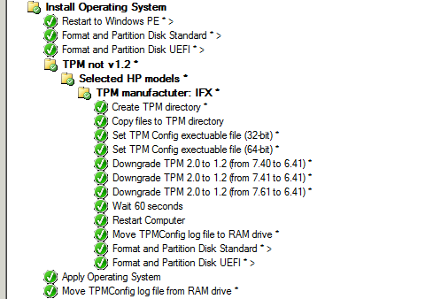 How to downgrade TPM 2 0 to TPM 1 2 on HP machines in SCCM OSD Task
